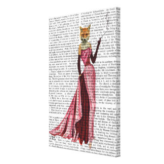 Glamour Fox in Pink Canvas Print