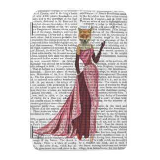 Glamour Fox in Pink iPad Mini Cover