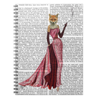 Glamour Fox in Pink Spiral Notebook