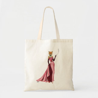 Glamour Fox in Pink Tote Bag