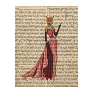 Glamour Fox in Pink Wood Wall Decor