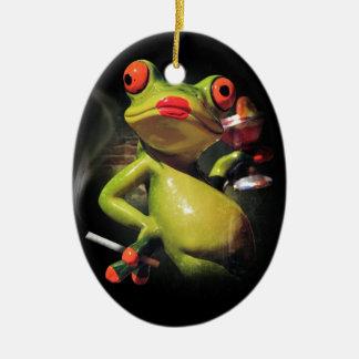 Glamour Frog Smoke Ceramic Oval Decoration