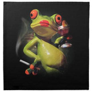 Glamour Frog Smoke Napkin