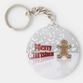 Glamour Gingerbread Christmas Man - Keychain