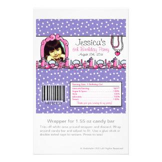 Glamour Girl Birthday Photo Candy Wrapper 14 Cm X 21.5 Cm Flyer