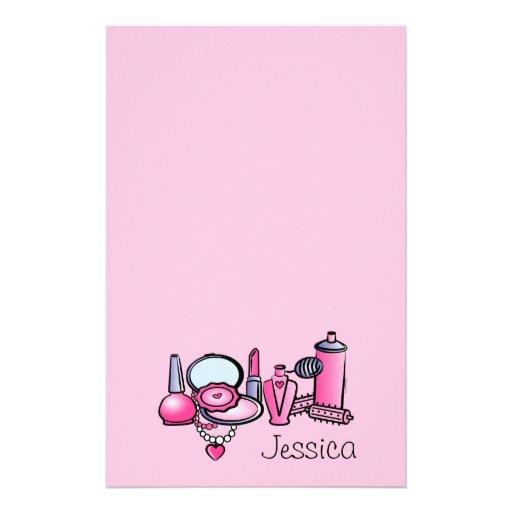 Glamour Girl Birthday Customized Stationery
