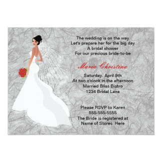 Glamour Girl Bridal Shower Invitation 2