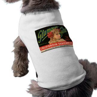 Glamour Girl California Vegetables Vintage Ad Dog Tee