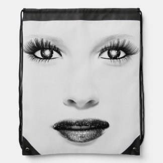 Glamour Girl Drawstring Backpack
