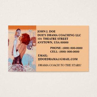 GLAMOUR GIRL & THEATER MASKS DRAMA BUSINESS CARD