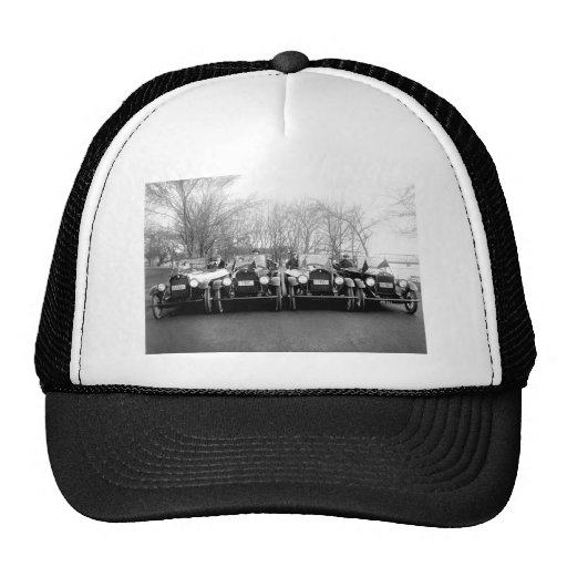 Glamour Girls & Classic Cars Vintage Photo Mesh Hat