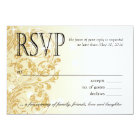Glamour Glitter Luxe Ombre RSVP | champagne Card