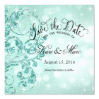 Glamour Glitter Luxe Save the Date | mint Card