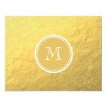Glamour Gold Foil Background Monogram Personalised Invitation