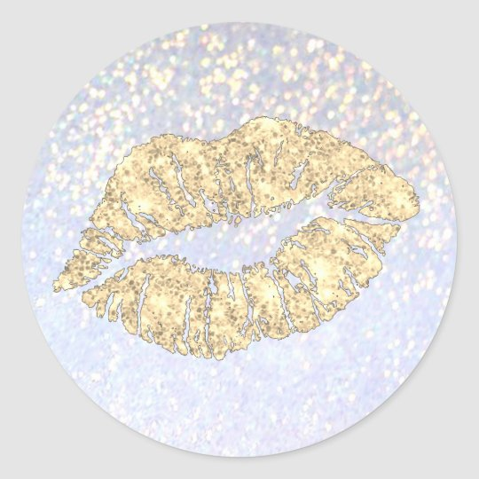 glamour gold lips kiss on faux sparkle classic