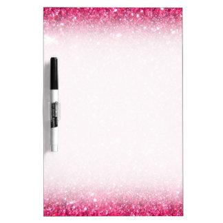 Glamour Hot Pink Glitter Dry-Erase Board