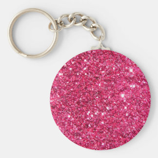 Glamour Hot Pink Glitter Key Chain