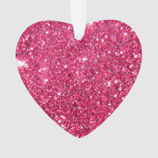 Glamour Hot Pink Glitter Ornament