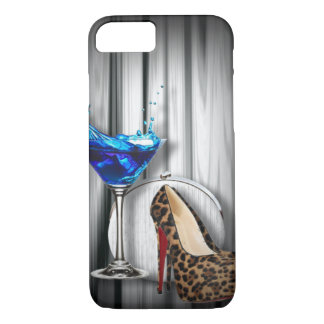 glamour martini cocktail party girl iPhone 8/7 case