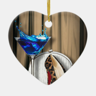 glamour martini cocktail party girl stilletos christmas ornament