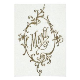Glamour Menu 13 Cm X 18 Cm Invitation Card