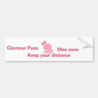 Glamour Puss Bumper Sticker