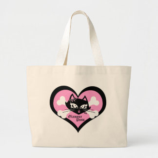 Glamour Puss Tote Canvas Bag