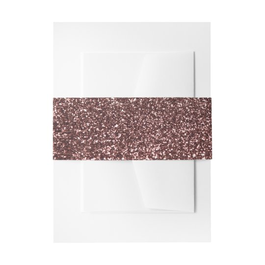 Glamour Rose Gold Glitter Image Wedding Invitation Belly