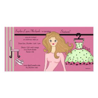 Glamour Teen Invitation Photo Card Template