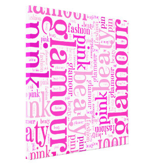 Glamour word cloud gallery wrap canvas