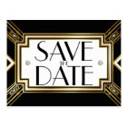 Glamourous Art Deco Geometric Wedding Save the Postcard