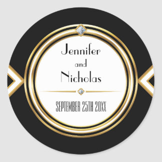 Glamourous ArtDeco Geometric Wedding Envelope Seal