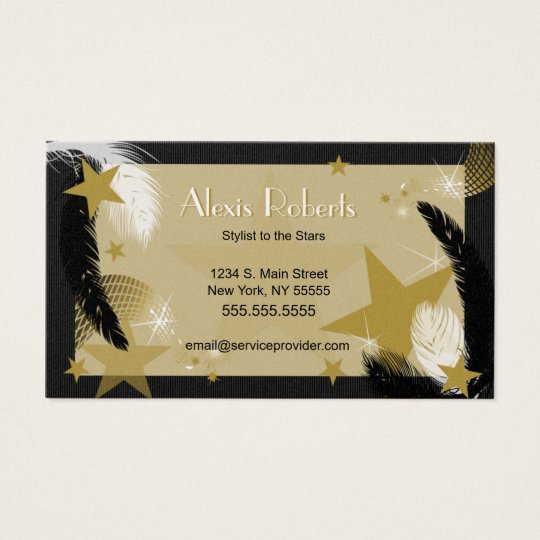 Glamourous Black and Gold Business Card