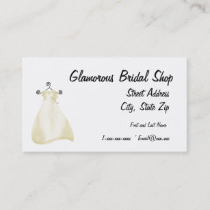 Bridal shops business cards zazzle uk glamourous bridal shop business card reheart Gallery