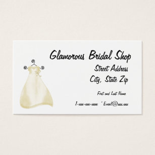 Bridal shop business cards business card printing zazzle uk glamourous bridal shop business card reheart Images
