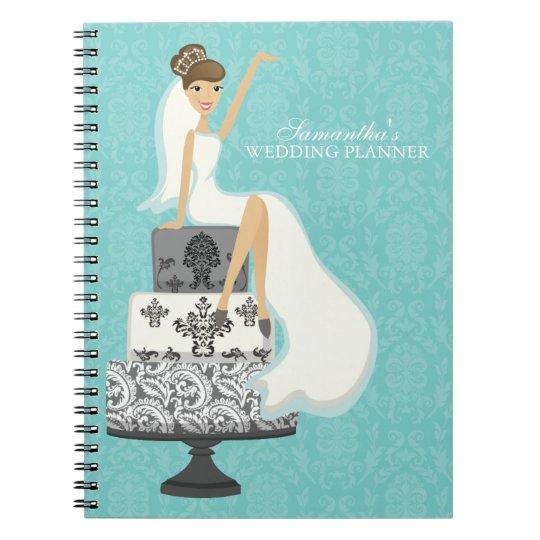 Glamourous Brunette Bride Wedding Planner Notebook