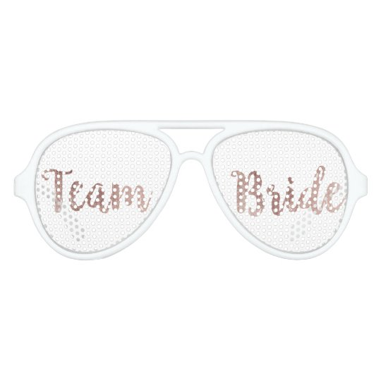 Glamourous Chic Rose Gold Team Bride Sunglasses