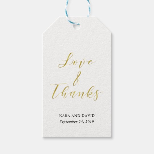 Glamourous Faux Gold Classic Wedding Thank You Gift