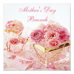 Glamourous Flowers & Boxes Mother's Day Brunch 13 Cm X 13 Cm Square Invitation Card