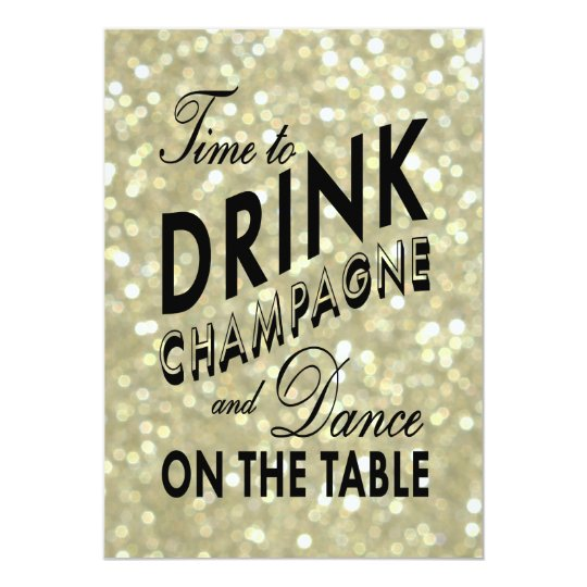 Glamourous Gold Rehearsal Dinner Card