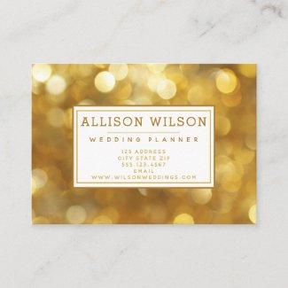 Glamourous Gold Sparkles Business Card