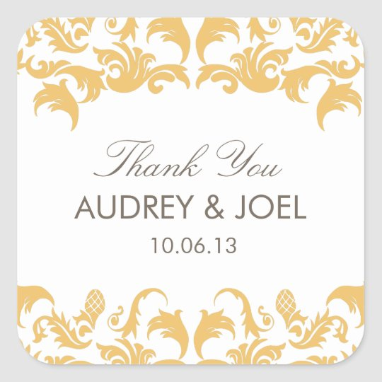 Glamourous Gold Wedding Favour Stickers