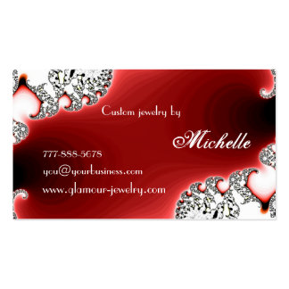 Glamourous Jewelry Jewellery Design Business Card