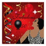 Glamourous Lady Fabulous 50 Fifty Birthday Party 4 Invite