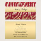 Glamourous Red and Gold Tiger Stripes Boutique Business Card