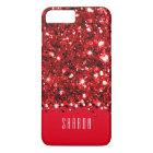 Glamourous Red Sparkly Glitter Confetti Case