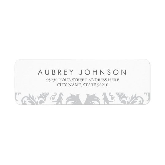 Glamourous Silver Address Labels