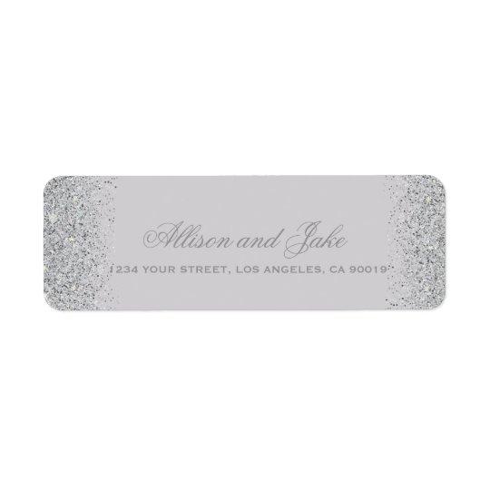 Glamourous Silver Glitter Address Labels
