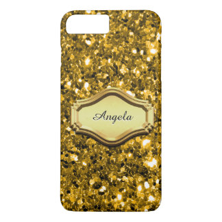 Glamourous Simulated Gold Sparkly Glitter Case