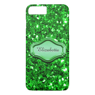 Glamourous Simulated Green Sparkly Glitter Case